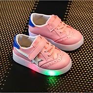 baratos Sapatos de Menina-Para Meninas Sapatos Sintético Verão Tênis com LED Conforto Tênis LED Colchete Elástico para Casual Festas & Noite Branco Vermelho Rosa