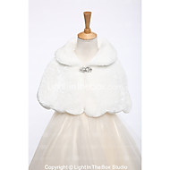 cheap -Faux Fur Wedding / Party / Evening Kids' Wraps With Rhinestone Capelets