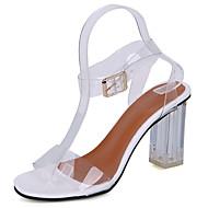 レディース 靴 ラバー 夏 コンフォートシューズ サンダル チャンキーヒール ベックル 用途 ホワイト ブラック ピンク