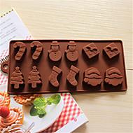 tanie Formy do ciast-Narzędzia do pieczenia Silikonowy 3D / Kreatywny gadżet kuchenny / Święta Chleb / Ciasteczka / Placek Formy Ciasta 1szt