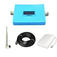 intelligente stk 1900mhz mobiltelefon signal booster cdma 850mhz signal repeater forsterker med panel antenne / omni antenne / 15m kabel /