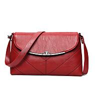 baratos Bolsas de Ombro-Mulheres Bolsas PU Bolsa Transversal Em Camadas Vermelho / Rosa / Cinzento