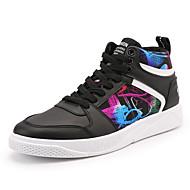tanie Obuwie męskie-Męskie Komfortowe buty Sztuczna skóra Wiosna, jesień, zima, lato Adidasy Biały / Czarny / Czerwony