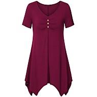 Veći konfekcijski brojevi Majica s rukavima Žene - Ulični šik Dnevno Jednobojni
