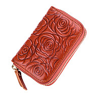 Women Bags Cowhide Coin Purse Zipper for Event/Party Office & Career All Seasons Blue Black Red Coffee Brown
