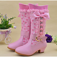Girls' Shoes Leatherette Winter Comfort Snow Boots Boots Mid-Calf Boots For Casual Blushing Pink
