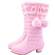 baratos Sapatos de Menina-Para Meninas Sapatos Couro Ecológico Inverno Conforto / Botas de Neve Botas para Vermelho / Rosa claro