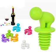 kreativer Form kleiner Säuferweinflaschenverschluss mit sechs Weinglasmarkierungslustigen Tasse Marke zufällige Farbe