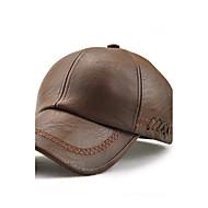 Masculino Vintage Casual Férias Mantenha Quente A prova de Vento Prova-de-Água Poliuretano Todas as Estações Boné Chapéu de sol,Sólido