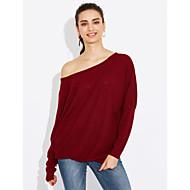 Žene Izlasci Praznik Ulični šik Dugih rukava Širok kroj Pullover Jednobojni Lađa izrez