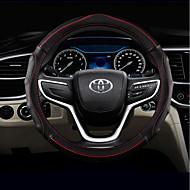 Prekrivači za upravljač Koža 38cm Black / Green / Black / Red / Plava Crna For Toyota RAV4 / Highlander / Corolla Sve godine