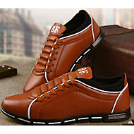 Men's Shoes PU Spring Fall Comfort Oxfords For Casual Black Yellow Brown Red Blue