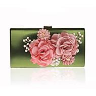 Női Táskák Minden évszak PVC Estélyi táska Virág(ok) mert Esküvő Party Rubin Bíbor Világoszöld Fukszia Bor