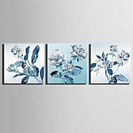 billiga Väggkonst-Tre paneler Duk Fyrkantig Tryck väggdekor Hem-dekoration