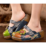 Women's Shoes PU Spring Fall Comfort Sandals For Casual Blue