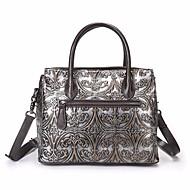 Women Bags All Seasons Cowhide Shoulder Bag Zipper for Casual Coffee
