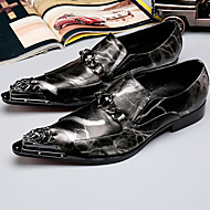 baratos Sapatos de Tamanho Pequeno-Homens Sapatos formais Pele Napa Outono / Inverno Oxfords Preto / Festas & Noite