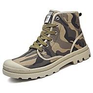 ieftine Cele Mai Vândute-Bărbați Pantofi Pânză Toamnă Iarnă Confortabili Cowboy/Cizme Western Cizme Dantelă Pentru Casual Rosu Verde Albastru Negru/Alb Kaki
