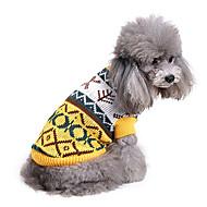 Cachorro Súeters Roupas para Cães Casual Geométricas Ocasiões Especiais Para animais de estimação