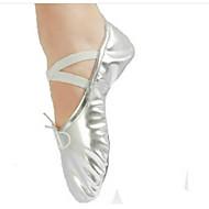 billige Ballettsko-Dame Ballettsko Tekstil / PU Hel såle Flat hæl Kan spesialtilpasses Dansesko Gull / Sølv / Trening