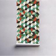 Stripet Trær / Blader Tapet til Hjemmet Moderne / Nutidig Tapetsering , PVC/Vinyl Materiale selvklebende nødvendig bakgrunns , Tapet