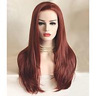 Uniwigs Vrouw Pruik Lace Front Synthetisch Haar Lang Recht  chocolade Natuurlijke pruik Kostuumpruik