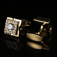 tanie Akcesoria dla mężczyzn-Geometric Shape White Black Manžetové knoflíčky Wzór Męskie Biżuteria kostiumowa