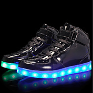 cheap Boys' Shoes-Boys' Shoes Customized Materials Patent Leather Winter Spring Light Up Shoes Comfort Sneakers LED Hook & Loop Lace-up for Casual Outdoor
