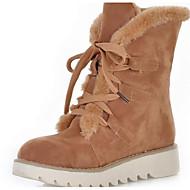 レディース 靴 ヌバックレザー 冬 秋 スノーブーツ ブーツ ミドルブーツ 用途 カジュアル ブラック ベージュ イエロー Brown ピンク