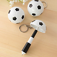 1 pc de football football design encre bleue stylo télescopique