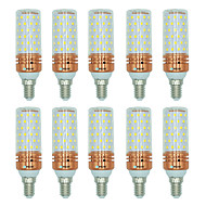 billige Kornpærer med LED-BRELONG® 10pcs 16W 1300lm E14 LED-kornpærer T 84 LED perler SMD 2835 Varm hvit Hvit Dual Light Source Color 220-240V