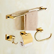 cheap Bathroom Accessory Set-Bathroom Accessory Set Modern Style / Classical Brass 4pcs - Hotel bath Toilet Paper Holders / Robe Hook / tower bar Wall Mounted