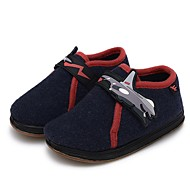 tanie Obuwie chłopięce-Dla chłopców Buty Wełna Zima Buty do nauki chodzenia Comfort Mokasyny i pantofle Tasiemka na Casual Dark Blue