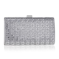 Women Bags Polyester Evening Bag Beading Pearl Detailing for Event/Party All Seasons Silver