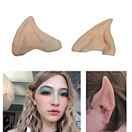 cheap Holiday Decorations-Fairy Pixie Elf Ears Cosplay Accessories LARP Halloween Party Latex Soft Pointed Prosthetic Tips Ear