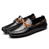 メンズ 靴 レザー 春 秋 モカシン ボート用シューズ リボン 用途 カジュアル ブラック Brown ブルー