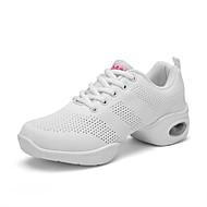 baratos Sapatilhas de Dança-Mulheres Tênis de Dança Tule Têni Saiu ao lado Sem Salto Sapatos de Dança Branco / Preto / Vermelho / Ensaio / Prática