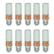 10pcs 16W E27 LED-kornpærer T 84 leds SMD 2835 Varm hvit Hvit Dual Light Source Color 1300lm 3000-3500  6000-6500  3000-6500K AC 220-240V