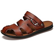 Men's Shoes Synthetic Microfiber PU Spring Fall Comfort Sandals Lace-up For Casual Dark Brown Brown