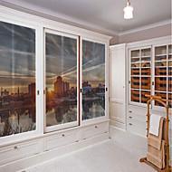 Art Deco Adesivo de Janela,PVC/Vinil Material Decoração de janela
