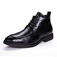 cheap Men's Boots-Men's Cowhide Summer / Fall Comfort Oxfords Black / Brown