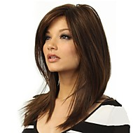 halpa -Naisten Synteettiset peruukit Suojuksettomat Pitkä Luonnolliset aaltoilevat Beige Raidoitetut hiukset Kerroksittainen leikkaus