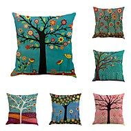 cheap Throw Pillows-6 pcs Cotton / Linen Pillow Cover Pillow Case, Novelty Classic Oil Painting Classical Retro Traditional / Classic