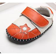 Bebê sapatos Pele Real Outono Inverno Conforto Primeiros Passos Rasos Para Casual Laranja Rosa claro
