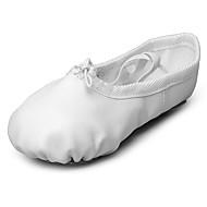 Dame Ballett Kunstlær Flate Opptreden Flat hæl Hvit