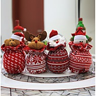 1pc christmas decorations woolen knitted dolls santa claus christmas snowman random color - Cheap Christmas Decorations