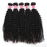 זול -לא מעובד שיער פרואני קינקי קרלי תוספות שיער 4 חלקים שחור