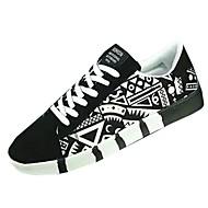 Homens sapatos Flocagem Primavera / Outono Conforto Tênis Branco / Preto / Azul