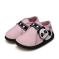 tanie Obuwie dziewczęce-Dla dziewczynek Buty Wełna Zima Buty do nauki chodzenia Comfort Mokasyny i pantofle Tasiemka na Casual Różowy Ciemnozielony