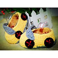 Bebê sapatos Lã Primavera Outono Conforto Primeiros Passos Chinelos e flip-flops Para Casual Amarelo Verde